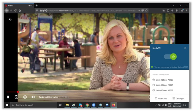 NordVPN Netflix US - Parks and Recreation